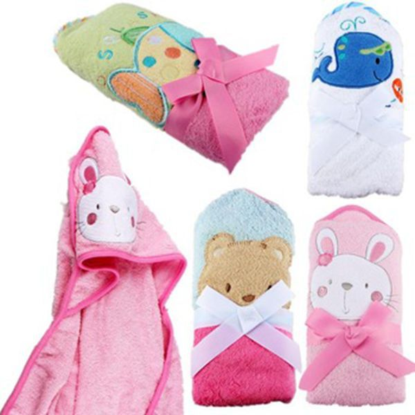 Bebe Baño | Menina Menino Retail Bebe Animal Roupao Baby Banho Com Capuz