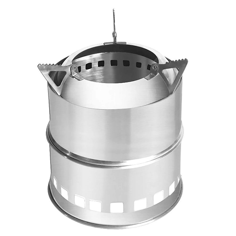 Foreveryang Outdoor Cooking Tool Picnic Potable Stainless Steel Wood Burning Camping Stove