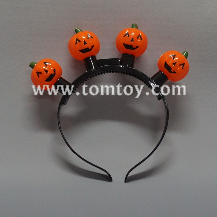 Tomtoy Halloween LED Light up Pumpkin Headband
