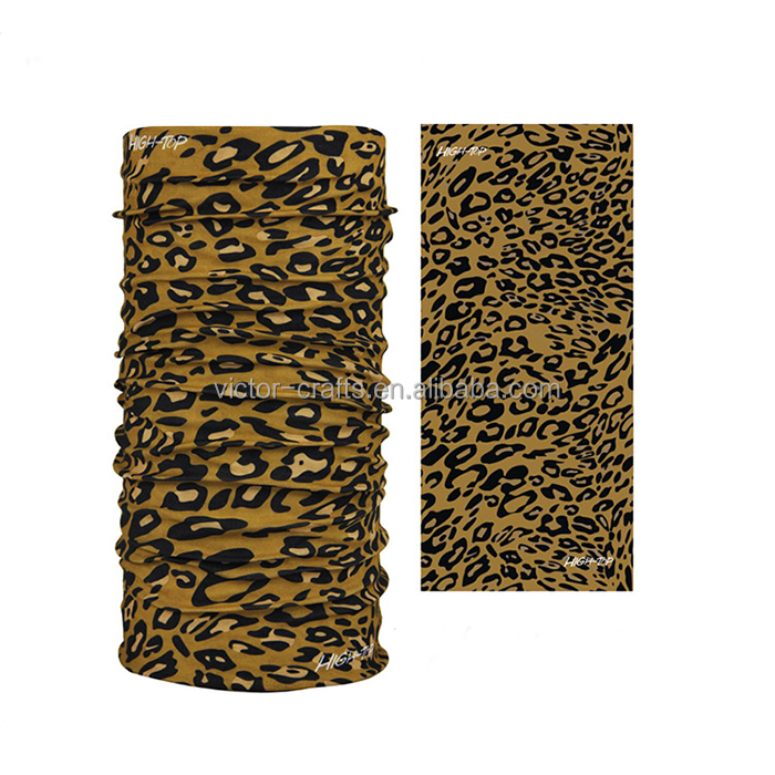 Custom print bandana multifunction outdoor sports seamless leopard bandanas