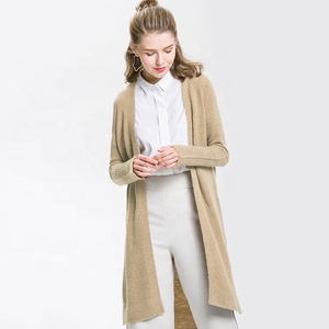 Casual US Women Outwear Long Sleeve Loose Sweater Knitted Cardigan Coat