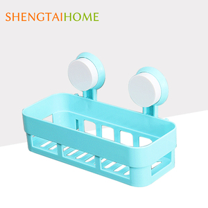 New Design Bathroom Wall Mounted Suction Plastic Storage Rack