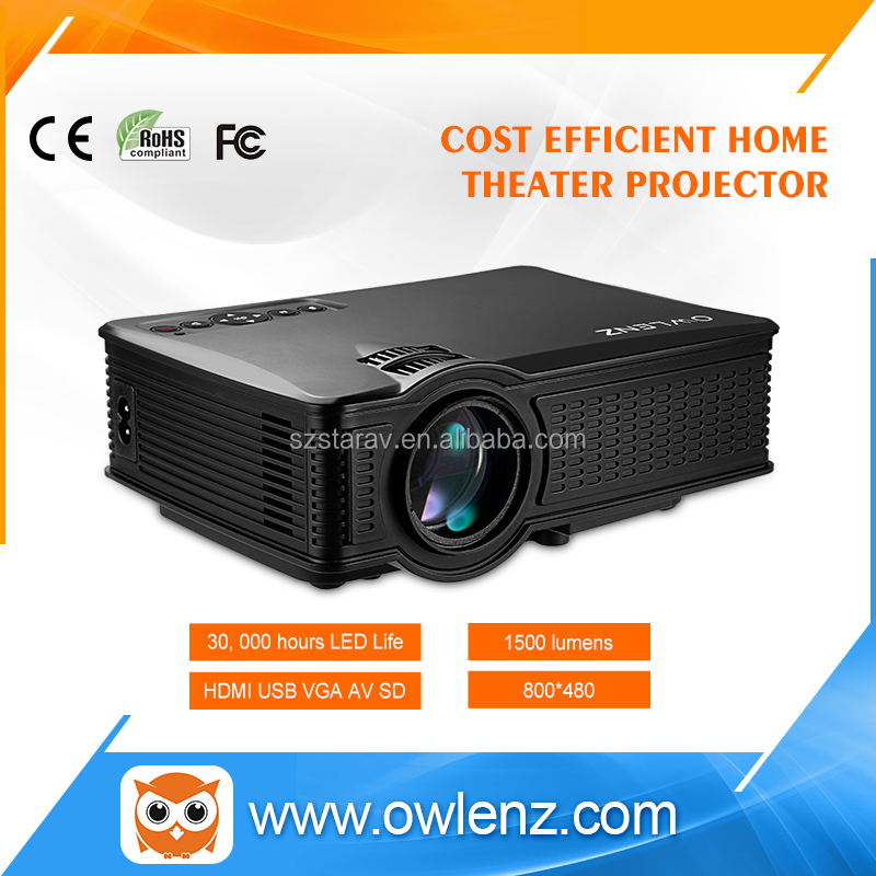 NEW mini led projector lowest price SD60 with wifi 1500lumens home theater projector better than UC46