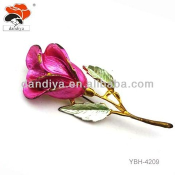 fashion wedding rose brooch vintage wholesale enamel flower brooches