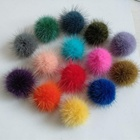 Factory wholesale cheap price real mink fur pompon pom poms for hat bag accessories
