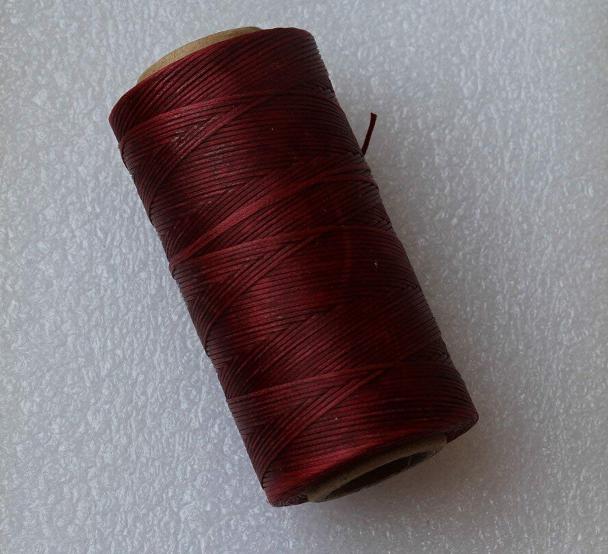 WellieSTR 284yrd Deep Brown Leather Craft Sewing Waxed Thread Heavy Duty Waxed Thread Sewing Waxed Coarse Whipping Thread 1mm Leather Hand Stitching S020 125g by WellieSTR