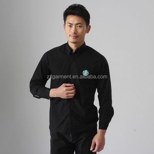 black uniform work shirt custom janitor uniform wholesale cotton workwear