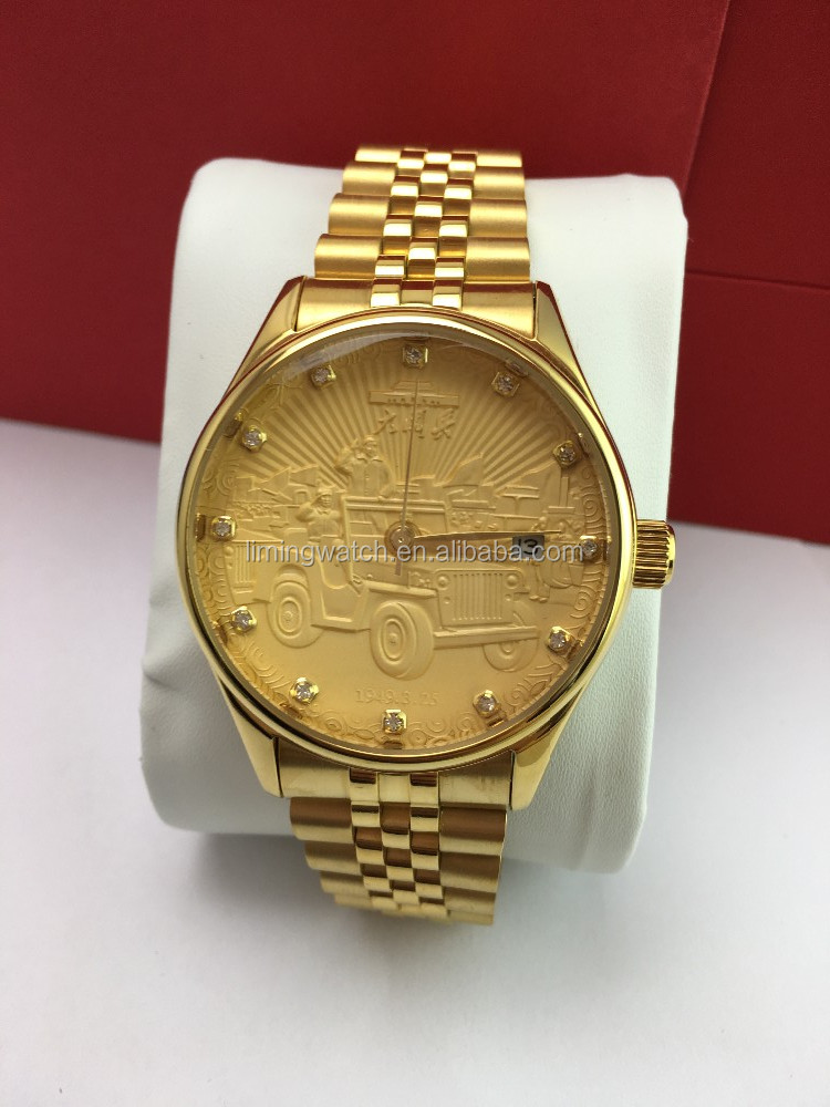 wholesale custom logo stainless steel automatic gold
