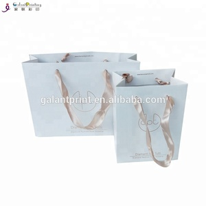 Matt Art Paper Rose Gold Foil Logo Mini Gift Paper Jewelry Bag