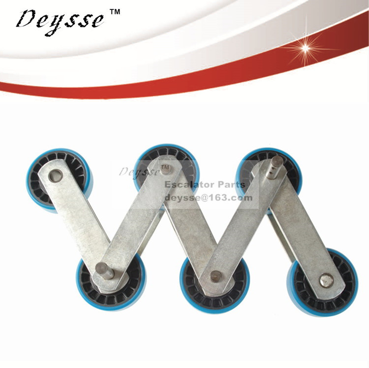 Escalator Step Roller Chains for Schindler Escalator Step Roller Chain Nylon skeleton Roller 76*23.5cm