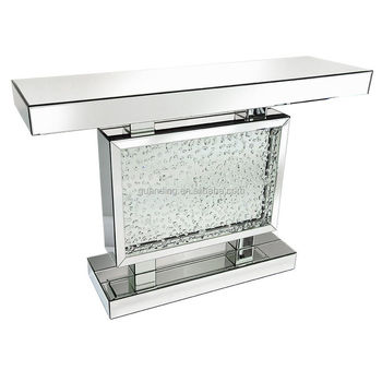 Contemporary Venetian Mirrored Glass Floating Crystal Chrome Diamond