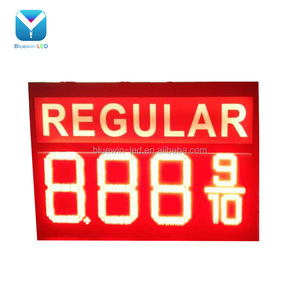 Digital number price display board Outdoor LED Gas Station Sign/4 digits number display 8.889/10