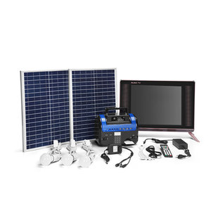 Family multipurpose Solar power system home portable solar kit tv