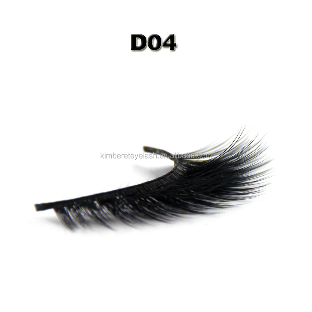 private label korean individual lashes silk eyelashes extentions 3d synthetic strip lashes