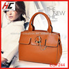 2014 factory offer cheap ladies lather bags plain hand bag