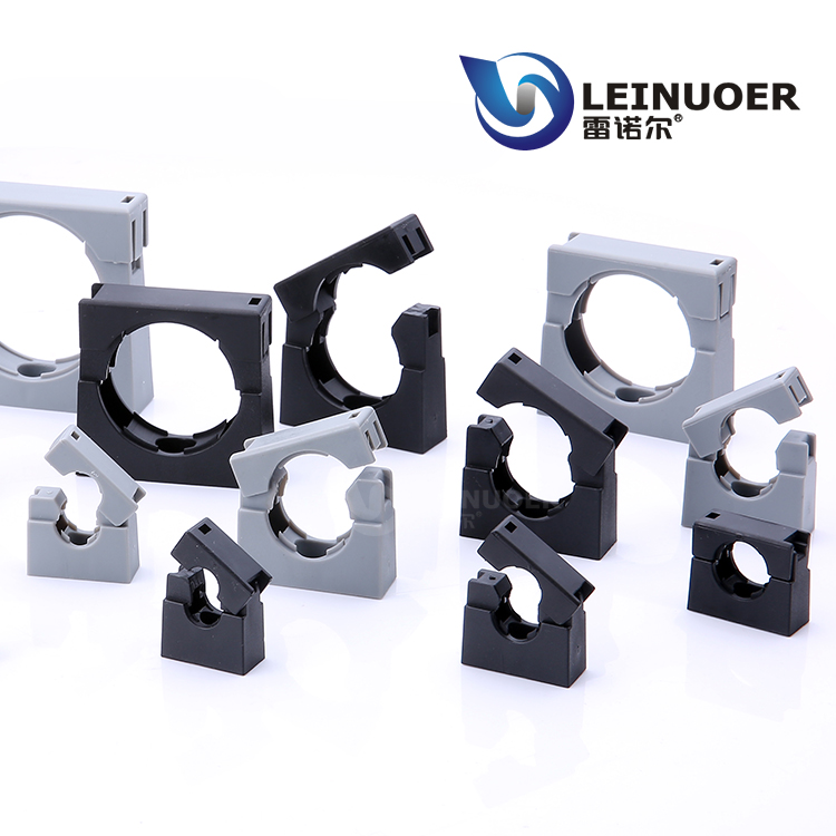 China light type plastic pipe clamp for AD10.0~AD54.5