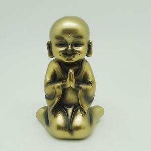 resin monk zen garden ornament gold baby buddha
