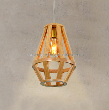 Home Indoor Wooden Fancy Hanging Light Chinese Wood Lantern Pendant Lights 0829 1p