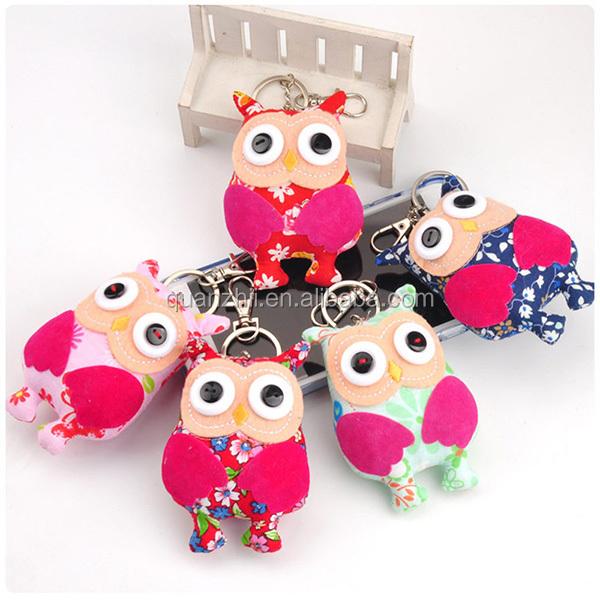 New Design Animal Owl Cute Plush Keychain Plush Baby Doll Toy Lovers