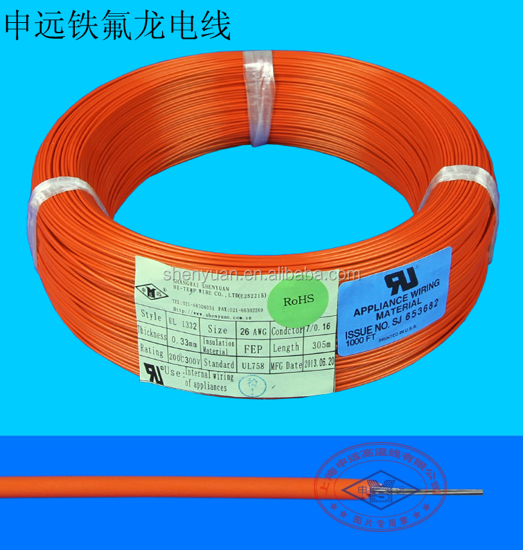 ul 1332 10 12 14 16 17 18 20 22 24 26 28 30 awg fep wire