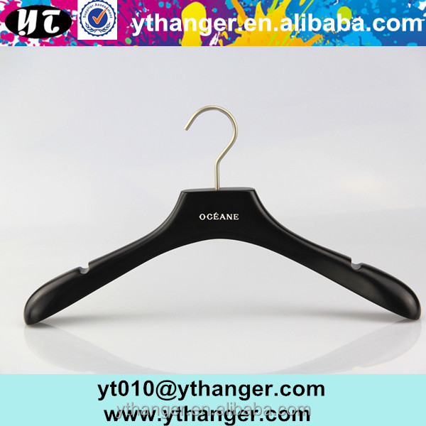 YY0223 yt personalized wooden coat hanger for clothes with notched