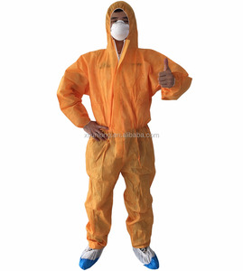 Clearroom disposable white orange jumpsuit coverall for painters
