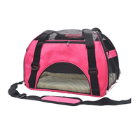 Breathable Soft-sided Pet Carrier, Cats Dogs Travel Crate Tote Portable Handbag Shoulder Bag Outdoor Pink