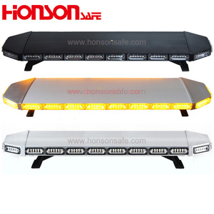 LED Ambulance Vehicle Warning Light Bars Amber Double color LED warning police led roof light bar