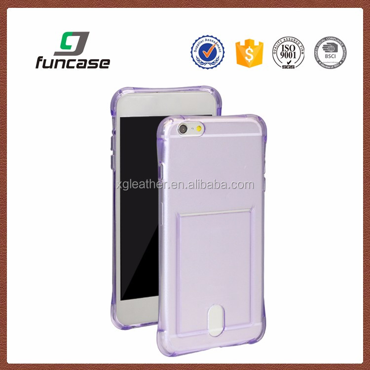 Soft TPU Case Crystal Clear Transparent Slim Anti Slip Case Back Protector For Samsung Galaxy S6 Edge