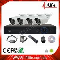 CMOS Sensor and Digital Camera Type 4ch NVR KIT support P2P POE h.264 NVR Kits