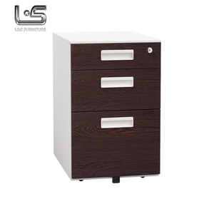 office used 3 drawer good powder coating delicate appearance steel filing cabinet with wheels