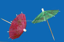 Promotional disposable drink cocktail umbrella decoration pick