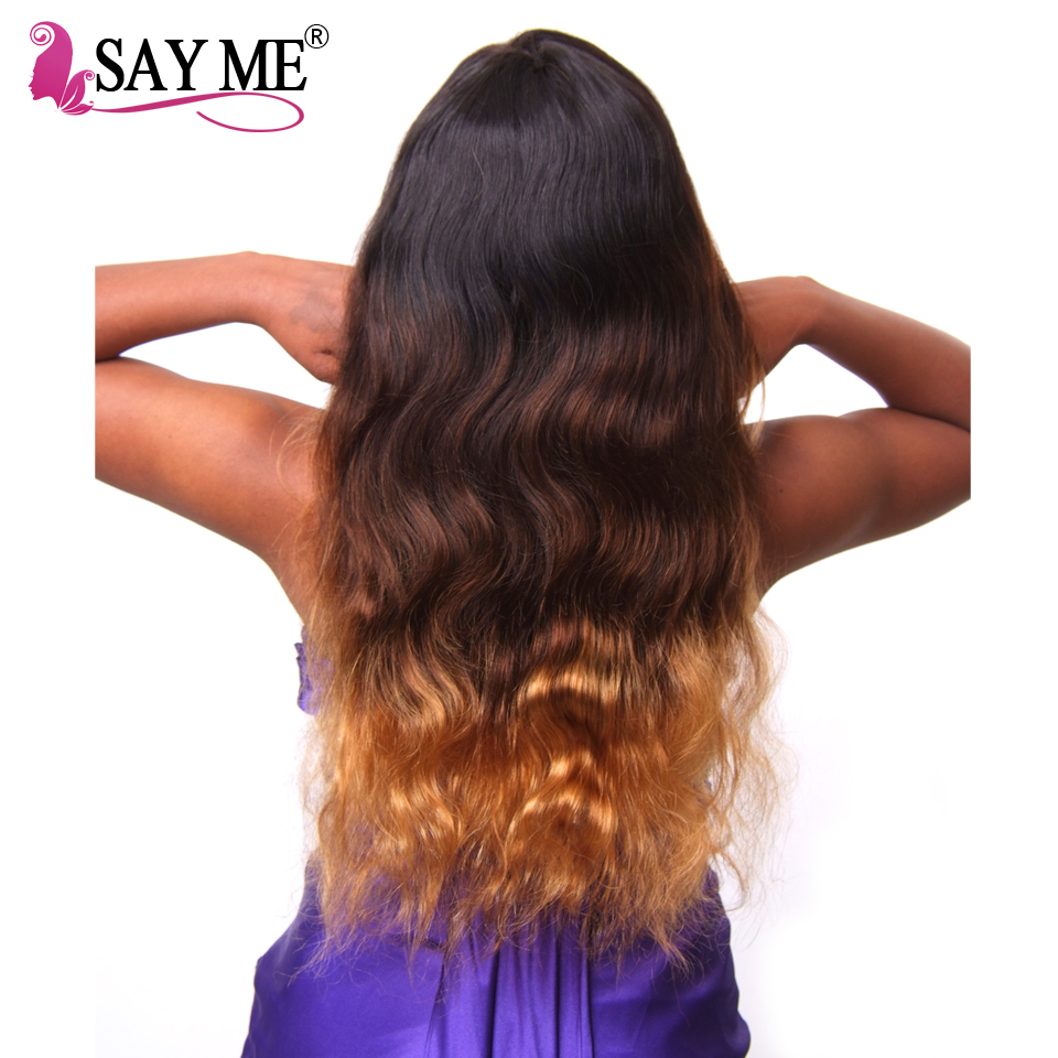 Say Me Expression Weave Ombre Three Tone 1b 4 30 Peruvian Body Wave