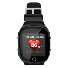 1.54inch Touch Screen SOS Two-way Calling GPS Watch D100 with Unique Function of Fall Down Alarm and Heart Rate Detection