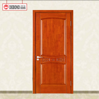 Solid Wood Frames Wooden Louvered Interior Door With Glass Designs