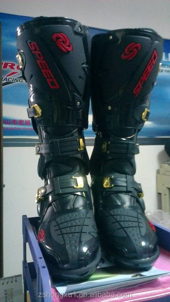 Leather Racing Motocrossing Boots Road Racing For Man Leather Racing Boots