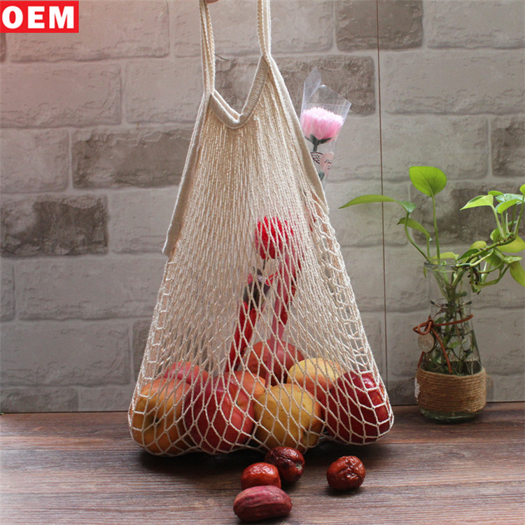 Japanese Macrame Bag Cotton Shopping Mesh Handbags Fruit Vegetables Mesh Net bags
