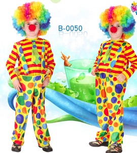 Kids Circus Halloween Clown Cosplay Costumes Naughty Harlequin Fantasia Infantil Boy Girl Carnival Party costumes