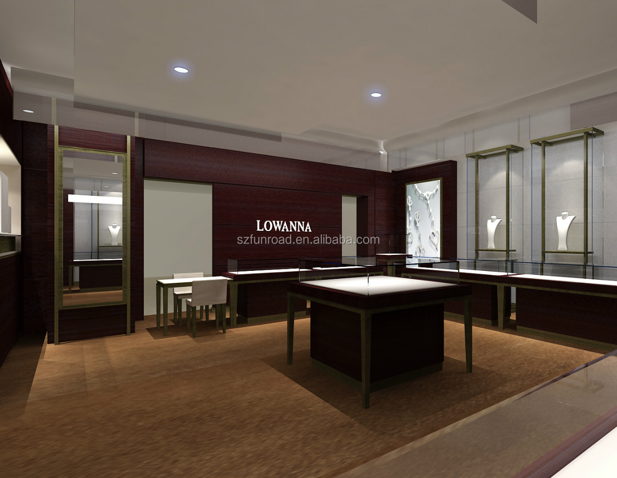 Wholesale jewelry display counter jewelry shop design idea for sale
