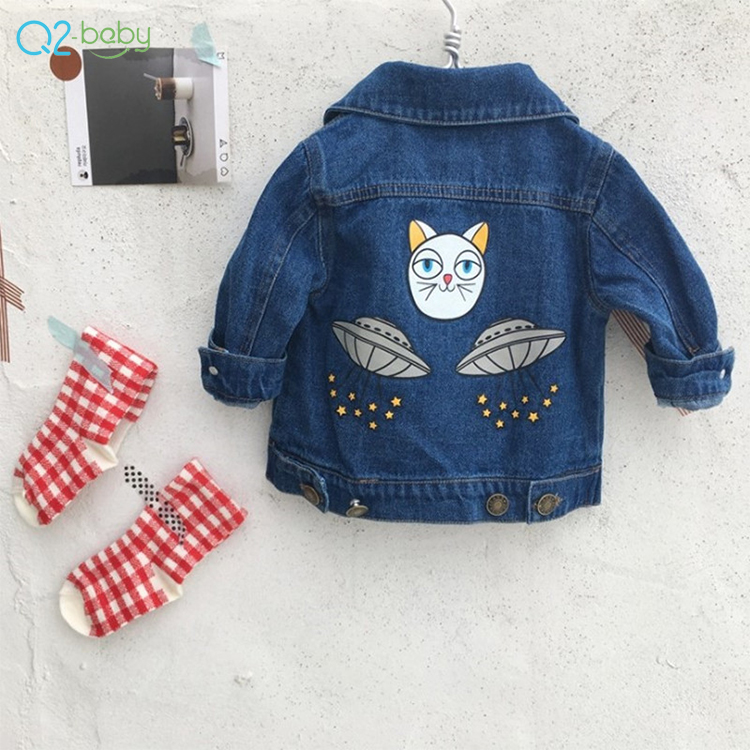 3ed52b064828f Q2-baby Stock Bébé Et Bambin Vêtements Manteau Dessin Animé Bébé Garçons  Veste En Jean