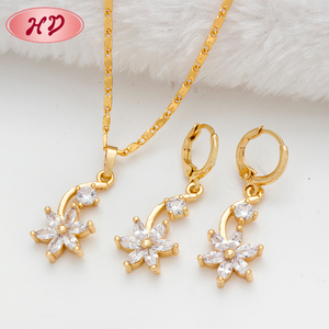 2017 new fashion Bollywood kundan jewelry earring,necklace sets Fine Dubai jewelry sets 18K gold plated jewelry set
