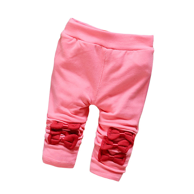 2015 Spring Pants Baby Girl Bow-Knot High Quality Baby Girl Cotton Pants Autumn Children Legging Pants 4-24 Month