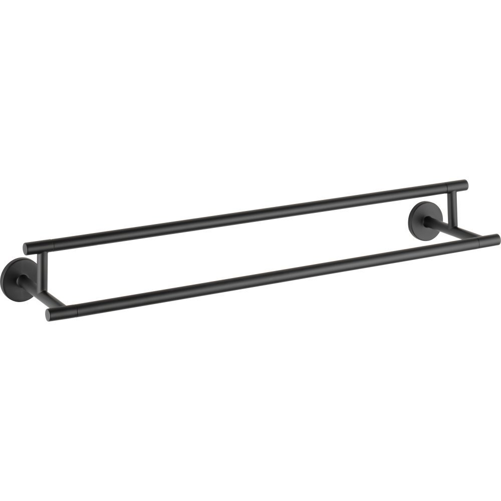 "Delta 75925 Trinsic 24"" Wall Mounted Double Towel Bar, Matte Black"