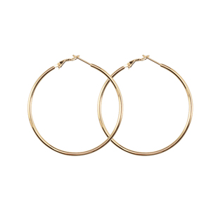 Hoyoo cheap price fashion jewelry party titanium stainless steel 2mm round hoop earring for women