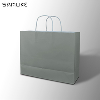 China supply biodegradable kraft paper bags for shopping promotion