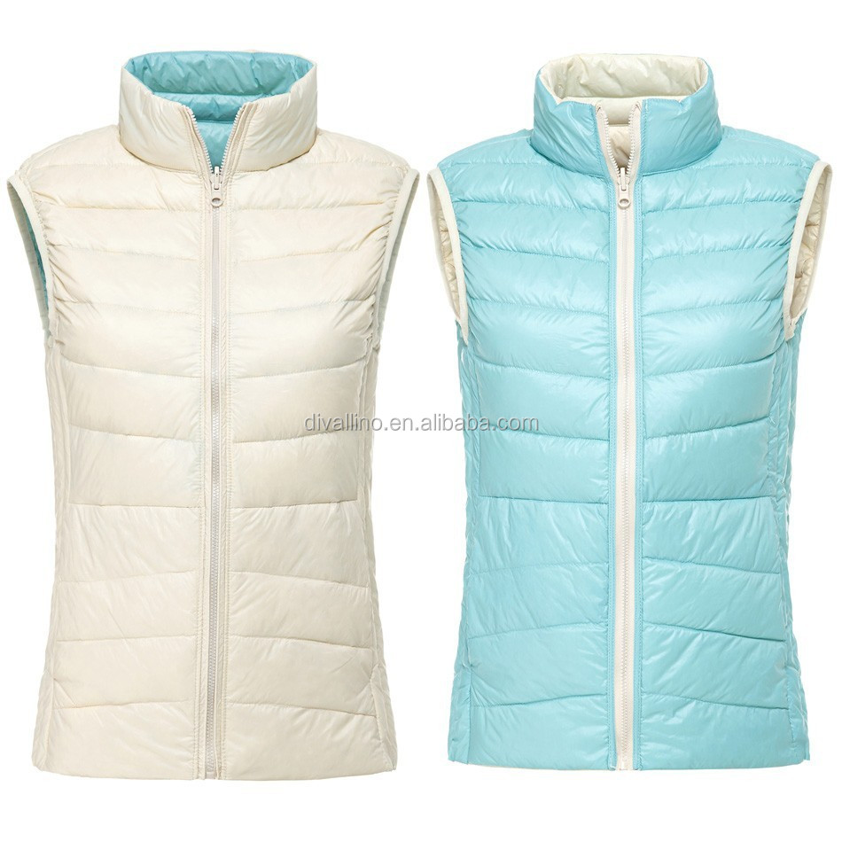 2018 One-stop Factory of Women Winter Duck Down Vest with Factory Wholesale Prices