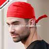 Promotional fashion kitchen caps unisex with 100% cotton printed striped and red chef hats