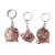 New arrival reflective zinc alloy emboss bronze  enamel epoxy custom Key Chains