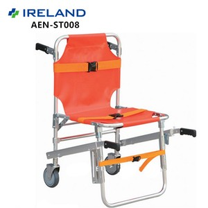 Aluminum Alloy Folding Ambulance Chair Emergency Wheelchair Lifts For Stairs