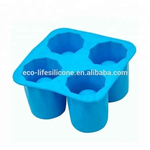 Fancy Ice Cube Tray , shot Silicone glass cup Ice Mould